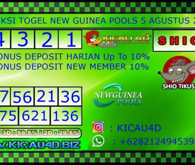 PREDIKSI NEW GUINEA 5 AGUSTUS 2019