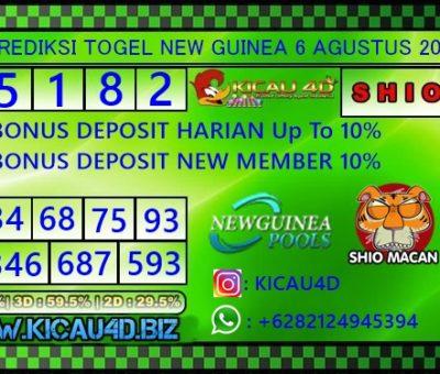 PREDIKSI NEW GUINEA 6 AGUSTUS 2019
