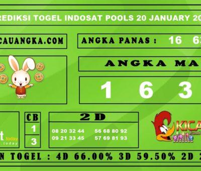 PREDIKSI TOGEL INDOSAT POOLS 20 JANUARI 2020