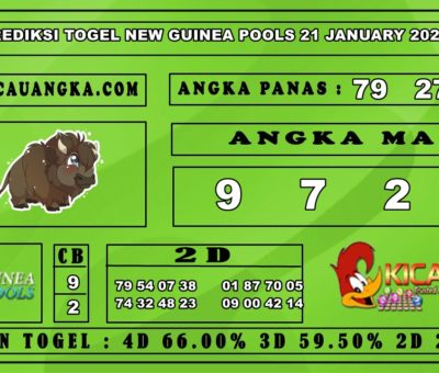PREDIKSI TOGEL NEW GUINEA POOLS 21 JANUARY 2020