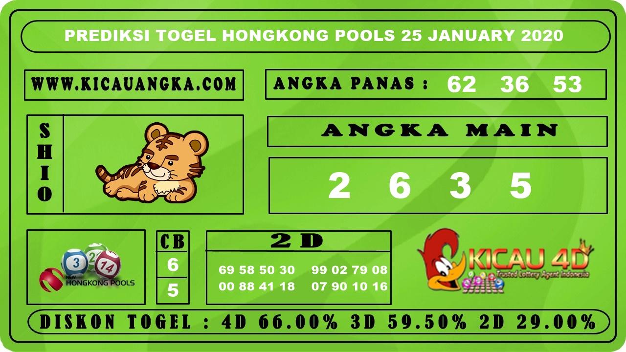 PREDIKSI TOGEL HONGKONG POOLS 25 JANUARY 2020