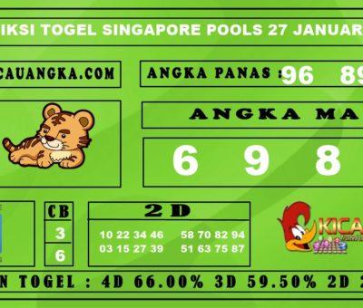 PREDIKSI TOGEL SINGAPORE POOLS 27 JANUARI 2020