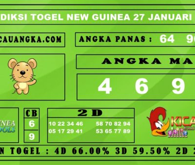 PREDIKSI TOGEL NEW GUINEA 27 JANUARI 2020