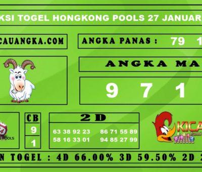 PREDIKSI TOGEL HONGKONG POOLS 27 JANUARI 2020