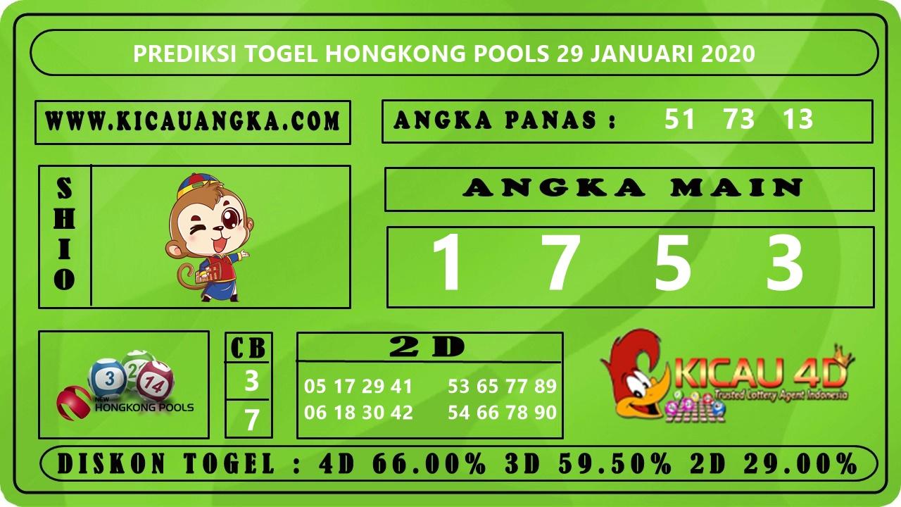PREDIKSI TOGEL HONGKONG POOLS 29 JANUARI 2020