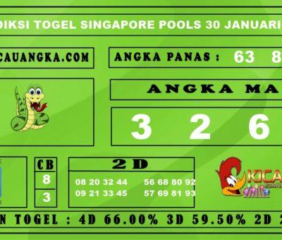 PREDIKSI TOGEL SINGAPORE POOLS 30 JANUARI 2020