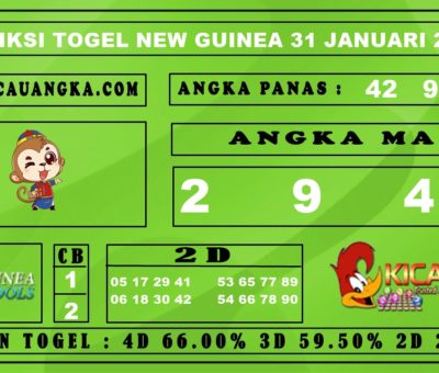 PREDIKSI TOGEL NEW GUINEA 31 JANUARI 2020