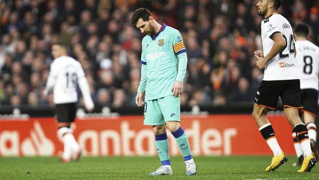 Barcelona Kalah Messi Catat Rekor Buruk