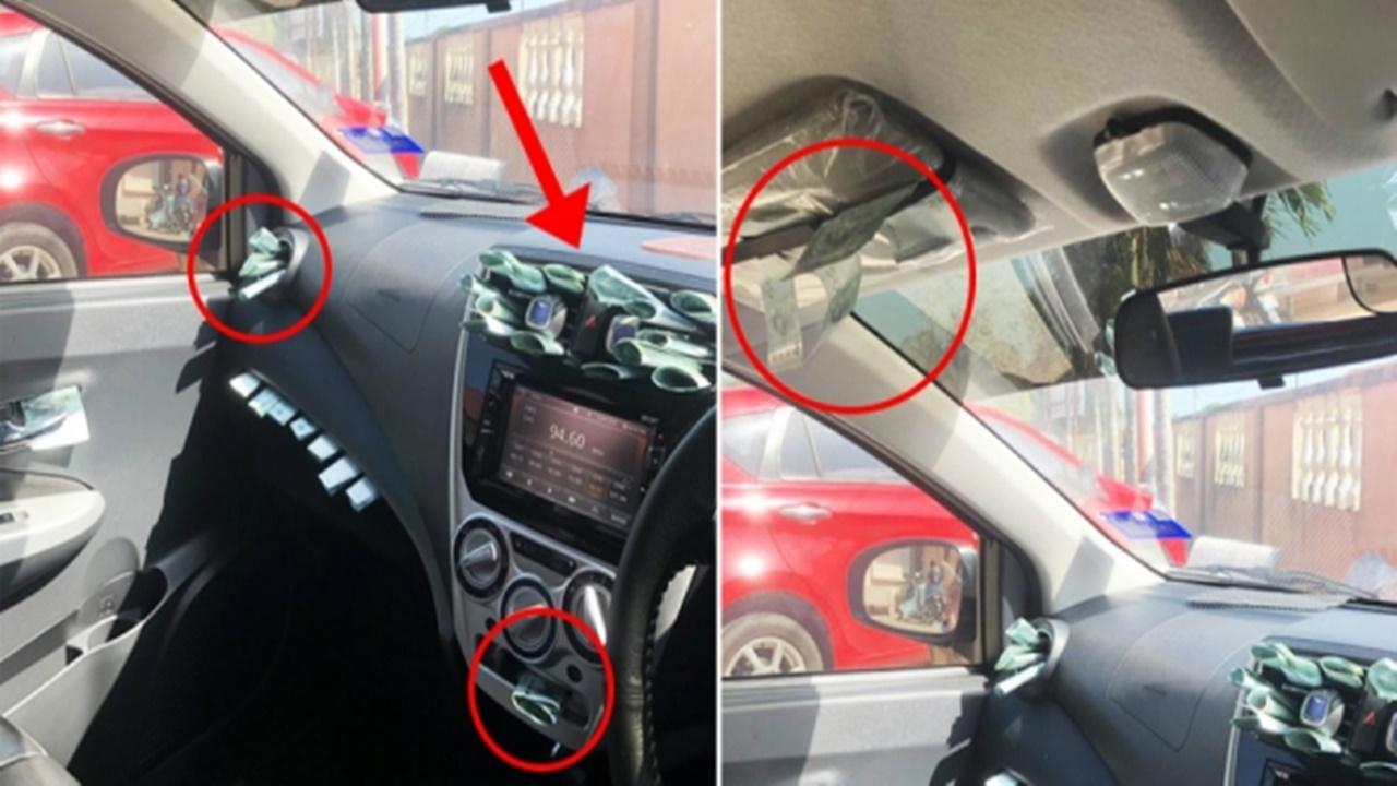 Pria Ini Syok Mobilnya Mendadak Dipenuhi Uang Nyangkut