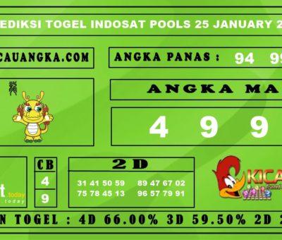 PREDIKSI TOGEL INDOSAT POOLS 25 JANUARY 2020