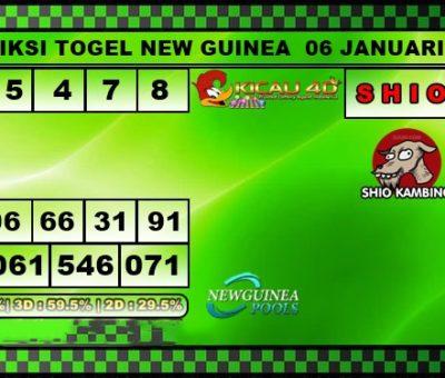 PREDIKSI NEW GUINEA 06 JANUARI 2020