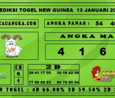 PREDIKSI TOGEL NEW GUINEA 13 JANUARI 2020