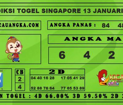 PREDIKSI TOGEL SINGAPORE 13 JANUARI 2020
