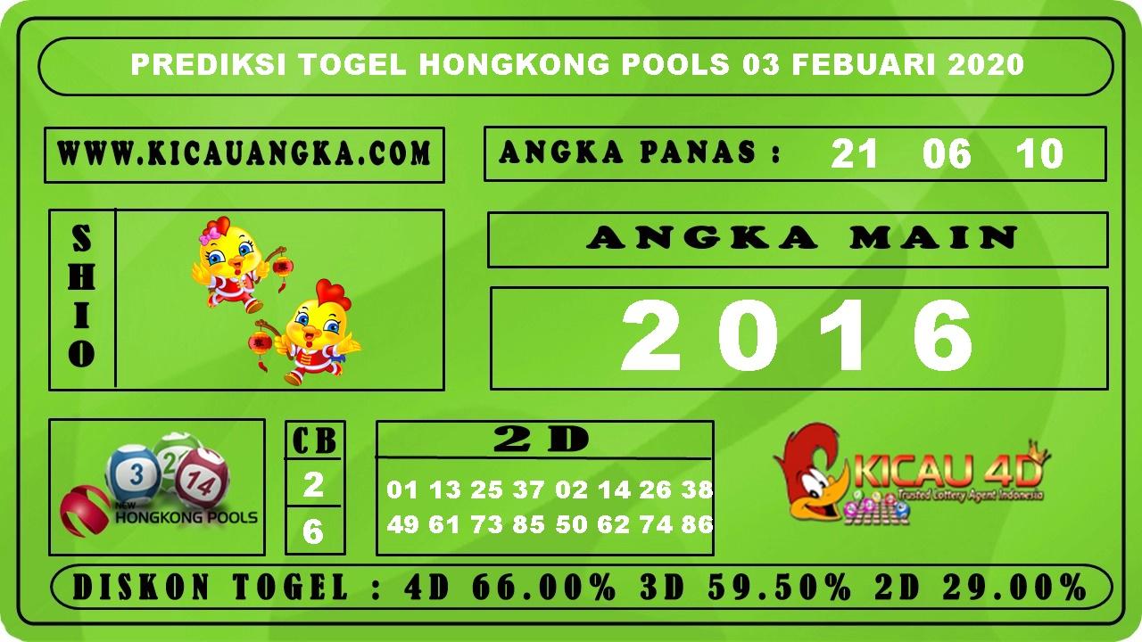 PREDIKSI HONGKONG POOLS 03 FEBRUARI 2020
