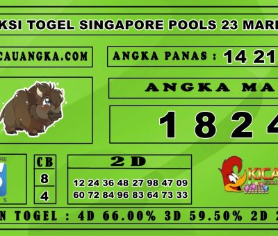 PREDIKSI TOGEL SINGAPORE POOLS 23 MARET 2020