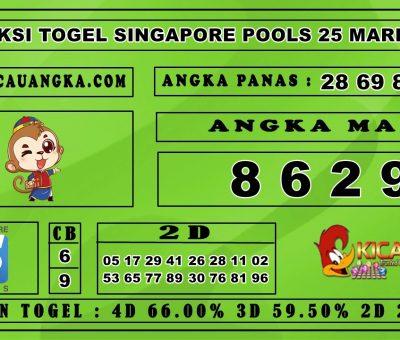 PREDIKSI TOGEL SINGAPORE POOLS 25 MARET 2020