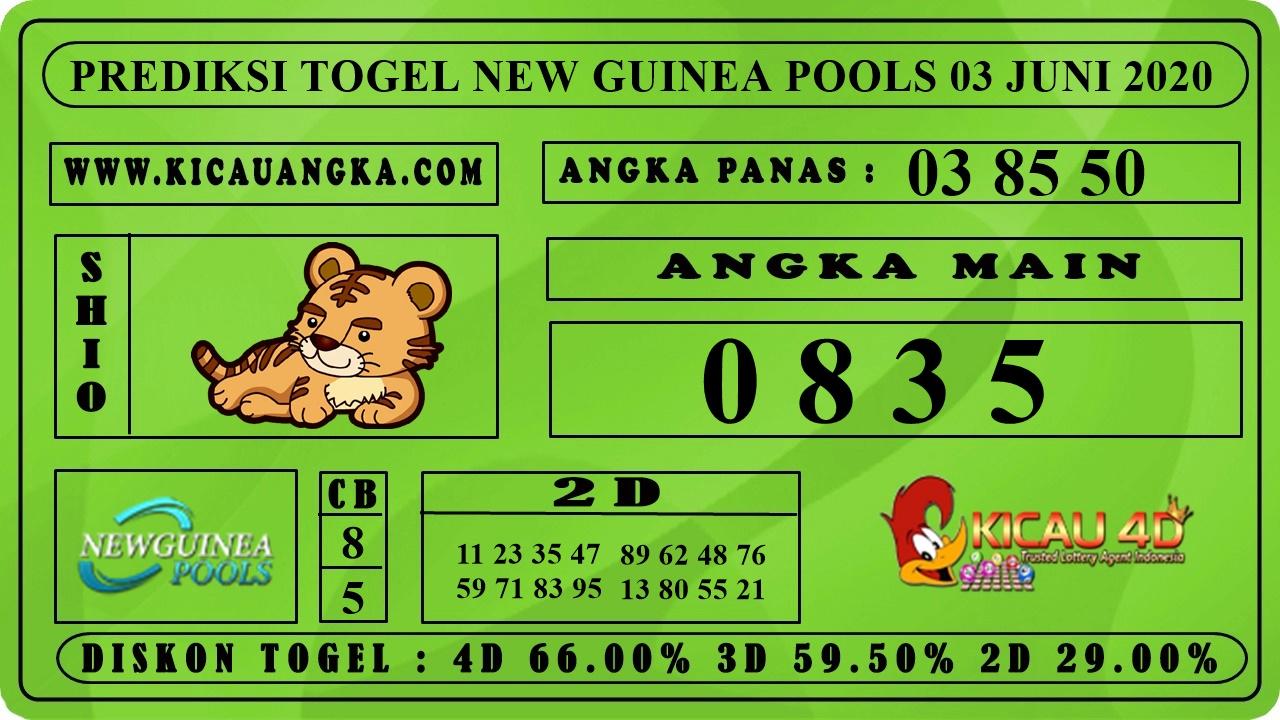 PREDIKSI TOGEL NEW GUINEA POOLS 03 JUNI 2020