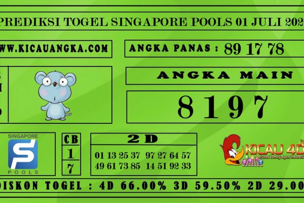 PREDIKSI TOGEL SINGAPORE POOLS 01 JULI 2020