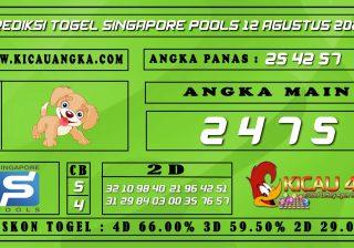PREDIKSI TOGEL SINGAPORE POOLS 12 AGUSTUS 2020