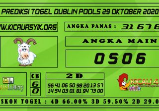 PREDIKSI TOGEL DUBLIN POOLS 29 OKTOBER 2020