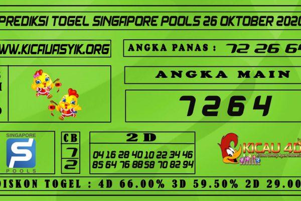 PREDIKSI TOGEL SINGAPORE POOLS 26 OKTOBER 2020
