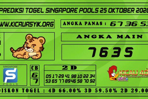 PREDIKSI TOGEL SINGAPORE POOLS 25 OKTOBER 2020