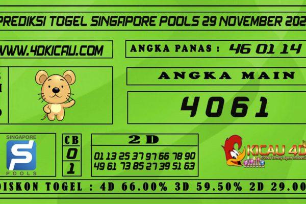 PREDIKSI TOGEL SINGAPORE POOLS 29 NOVEMBER 2020