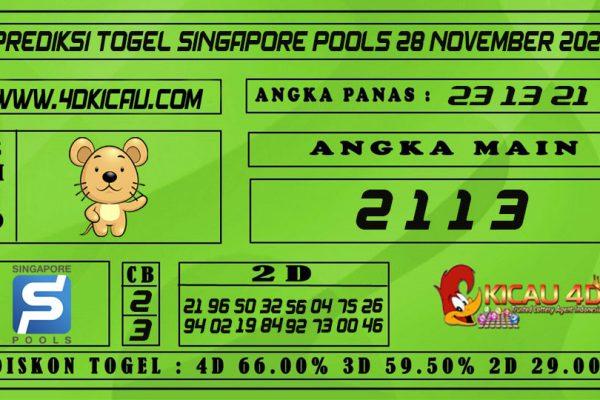 PREDIKSI TOGEL SINGAPORE POOLS 28 NOVEMBER 2020
