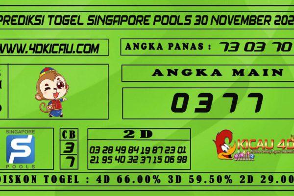 PREDIKSI TOGEL SINGAPORE POOLS 30 NOVEMBER 2020