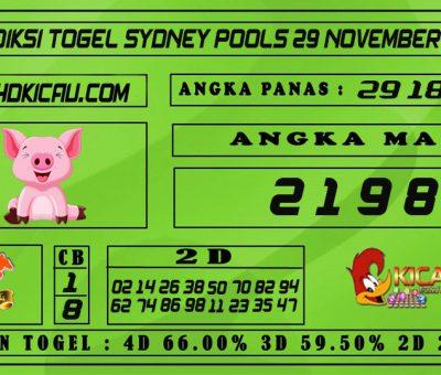 PREDIKSI TOGEL SYDNEY POOLS 29 NOVEMBER 2020