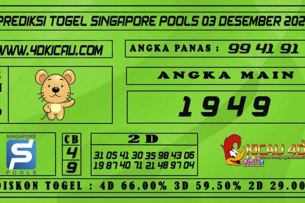 PREDIKSI TOGEL SINGAPORE POOLS 03 DESEMBER 2020