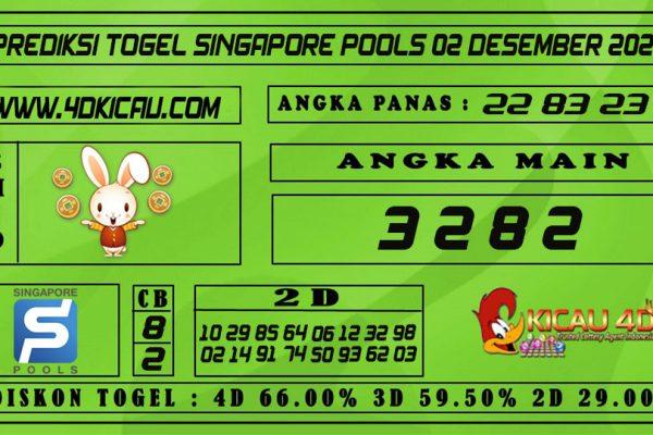 PREDIKSI TOGEL SINGAPORE POOLS 02 DESEMBER 2020
