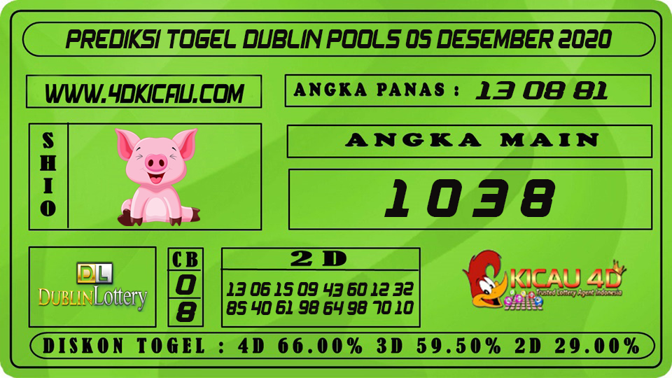 PREDIKSI TOGEL DUBLIN POOLS 05 DESEMBER 2020