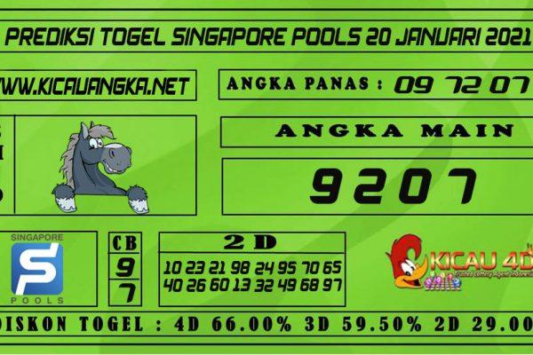 PREDIKSI TOGEL SINGAPORE POOLS 20 JANUARI 2021