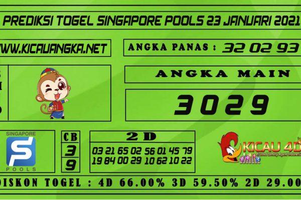 PREDIKSI TOGEL SINGAPORE POOLS 23 JANUARI 2021