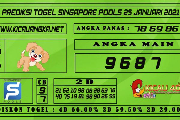 PREDIKSI TOGEL SINGAPORE POOLS 25 JANUARI 2021
