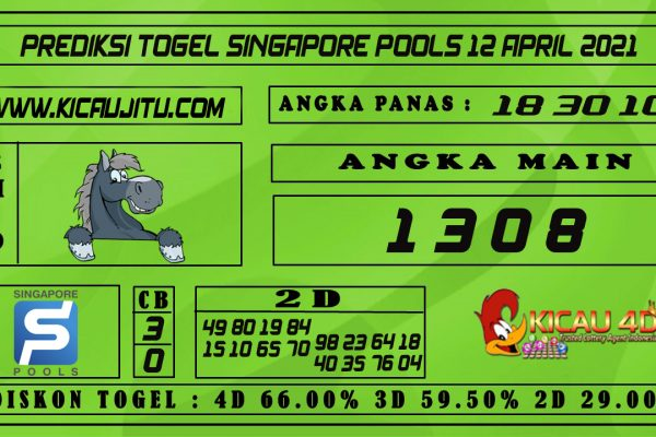 PREDIKSI TOGEL SINGAPORE POOLS 12 APRIL 2021