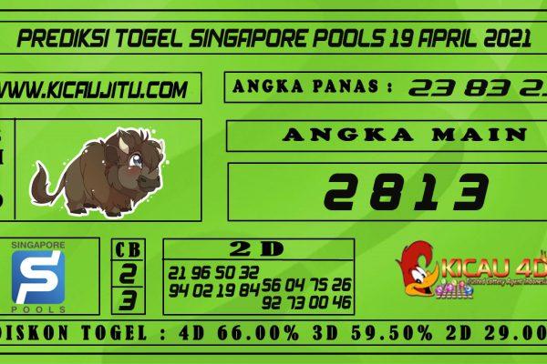 PREDIKSI TOGEL SINGAPORE POOLS 19 APRIL 2021