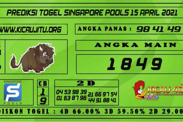 PREDIKSI TOGEL SINGAPORE POOLS 15 APRIL 2021