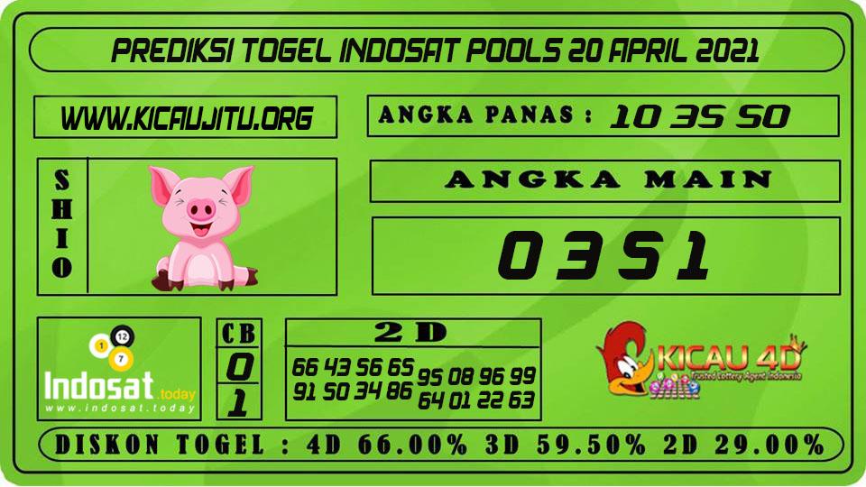 PREDIKSI TOGEL INDOSAT POOLS 20 APRIL 2021
