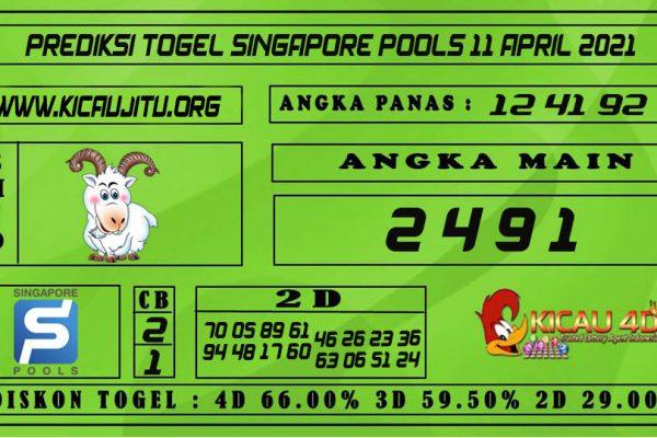 PREDIKSI TOGEL SINGAPORE POOLS 11 APRIL 2021